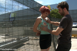 Redhead collared slave chick enjoys roug - XXX Dessert - Picture 2