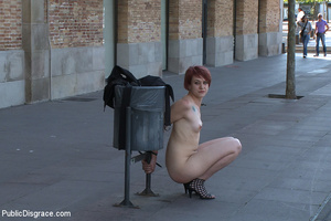 Redhead collared slave chick enjoys roug - XXX Dessert - Picture 15