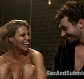 Lusty blonde slave chick gets her pussy fisted and…