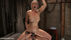 Tied up enslaved dude gets his pecker to - XXX Dessert - Picture 10