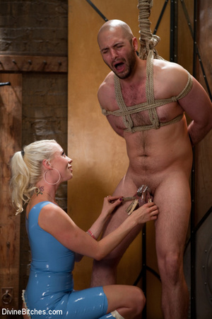 Tied up enslaved dude gets his pecker to - XXX Dessert - Picture 14
