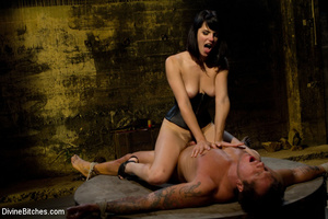 Hairy pussy dominatrix in leather outfit - XXX Dessert - Picture 6