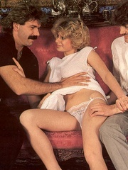 Seventies hottie enjoys two big dicks in - XXX Dessert - Picture 2