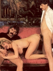 Seventies hottie enjoys two big dicks in - XXX Dessert - Picture 7