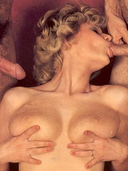 Seventies hottie enjoys two big dicks in - XXX Dessert - Picture 16