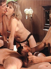 Two seventies couples doing it all together - XXX Dessert - Picture 16