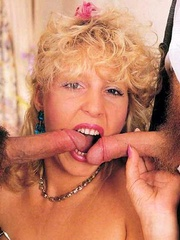 Horny seventies blonde loves two big cocks - XXX Dessert - Picture 7