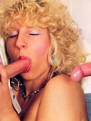 Horny seventies blonde loves two big cocks - XXX Dessert - Picture 8