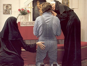 Two hairy seventies nuns stuffed in all  - XXX Dessert - Picture 5