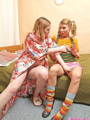 Smutty housewife calls up her lesbian - XXX Dessert - Picture 5