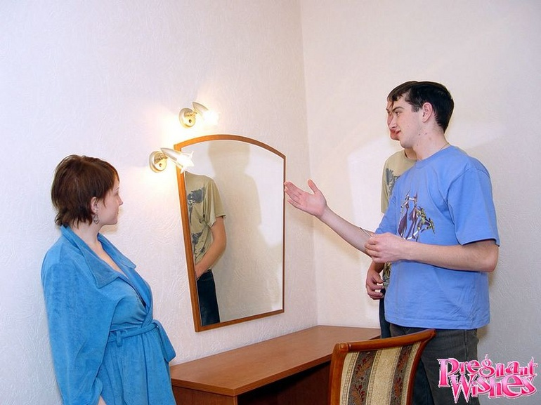 Horny pregnant woman gives guy deepthroat - XXX Dessert - Picture 4
