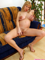Busty preggo with huge areolas shows much - XXX Dessert - Picture 9