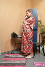 skillful plumber licking pregnant
