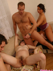 Group sex with a preggo on board is so much - XXX Dessert - Picture 15