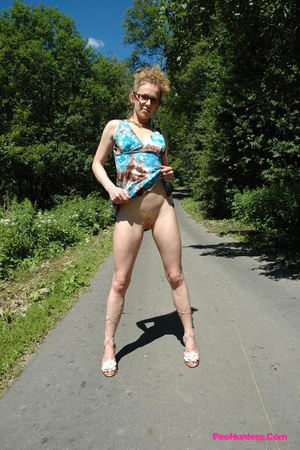 Teeny pissing in the middle of the country road - XXXonXXX - Pic 6