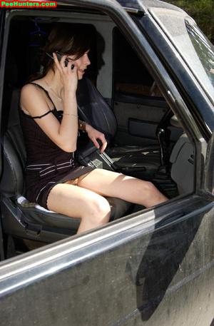 Spying on teen peeing behind the car - XXXonXXX - Pic 4