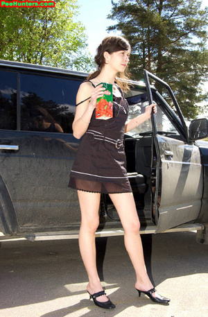Spying on teen peeing behind the car - XXXonXXX - Pic 8