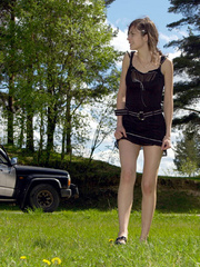 Spying on teen peeing behind the car - XXXonXXX - Pic 11
