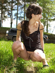 Spying on teen peeing behind the car - XXXonXXX - Pic 13