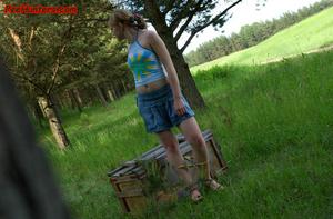Spying on sexy teen peeing outdoor - XXXonXXX - Pic 11