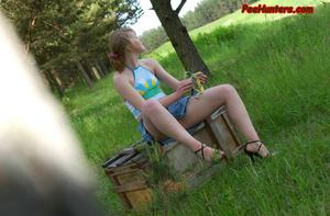 Spying on sexy teen peeing outdoor - XXXonXXX - Pic 13