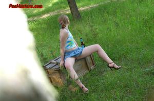 Spying on sexy teen peeing outdoor - XXXonXXX - Pic 15