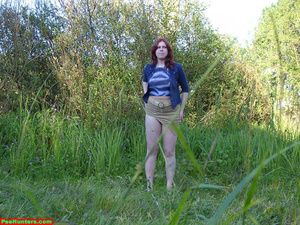 Spying on peeing redhair chubby teen - XXXonXXX - Pic 8