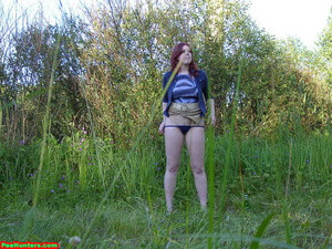 Spying on peeing redhair chubby teen - XXXonXXX - Pic 9