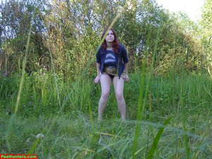 Spying on peeing redhair chubby teen - XXXonXXX - Pic 10