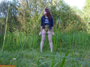 Spying on peeing redhair chubby teen - XXXonXXX - Pic 11
