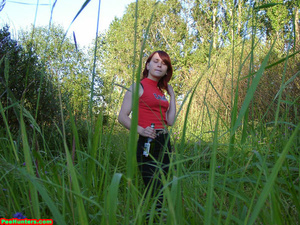 Spying on redhair teen peeing after beer - XXXonXXX - Pic 2