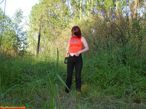 Spying on redhair teen peeing after beer - XXXonXXX - Pic 5