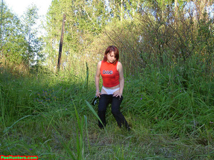 Spying on redhair teen peeing after beer - XXXonXXX - Pic 7