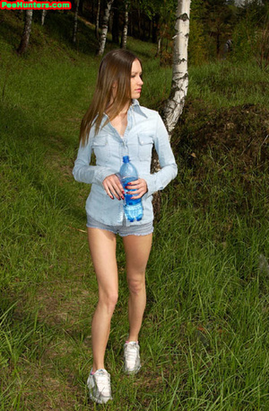 Spying on exciting beautiful teen peeing in the park - XXXonXXX - Pic 3