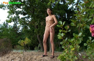 Smooth little sweetie passes water in the woods - XXXonXXX - Pic 5