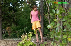 Smooth little sweetie passes water in the woods - XXXonXXX - Pic 15