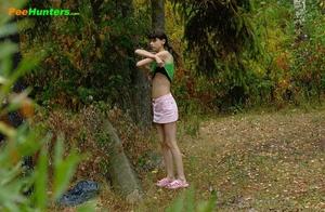 Little babe takes a leak in the nearby bushes - XXXonXXX - Pic 1