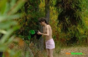 Little babe takes a leak in the nearby bushes - XXXonXXX - Pic 2