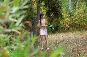 Little babe takes a leak in the nearby bushes - XXXonXXX - Pic 14