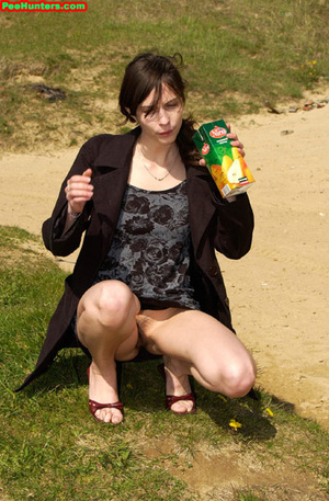 Spying on beautiful  teen peeing on the river beach - XXXonXXX - Pic 7