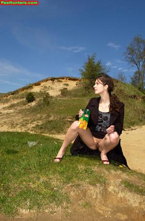 Spying on beautiful  teen peeing on the river beach - XXXonXXX - Pic 8