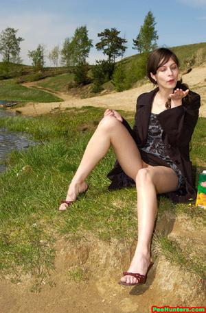 Spying on beautiful  teen peeing on the river beach - XXXonXXX - Pic 9