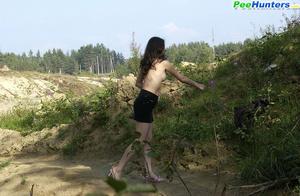 Delicious naked brunette takes a leak in the bush - XXXonXXX - Pic 5
