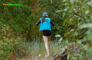 Slim teenage nudist chick caught peeing in bush - XXXonXXX - Pic 16