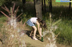 Beautiful kitty plays watersports on a quiet forest glade - XXXonXXX - Pic 3