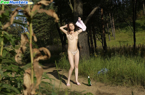 Beautiful kitty plays watersports on a quiet forest glade - XXXonXXX - Pic 8