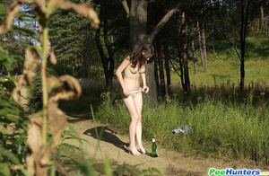 Beautiful kitty plays watersports on a quiet forest glade - XXXonXXX - Pic 10