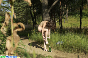 Beautiful kitty plays watersports on a quiet forest glade - XXXonXXX - Pic 11