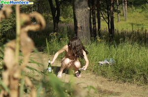 Beautiful kitty plays watersports on a quiet forest glade - XXXonXXX - Pic 12