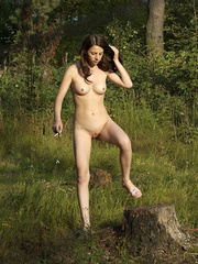 Young nude babe pissing with a cig in her hand - XXXonXXX - Pic 12